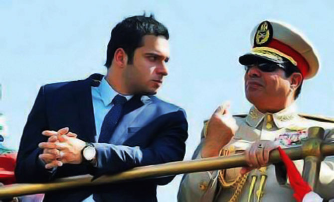 عبد الفتاح السيسي، رئيس الجمهورية، ومحمد بدران، رئيس حزب مستقبل وطن