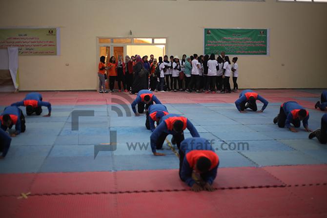 إحدى الفرق الرياضية خلال المشاركة في اللقاء الرياضي