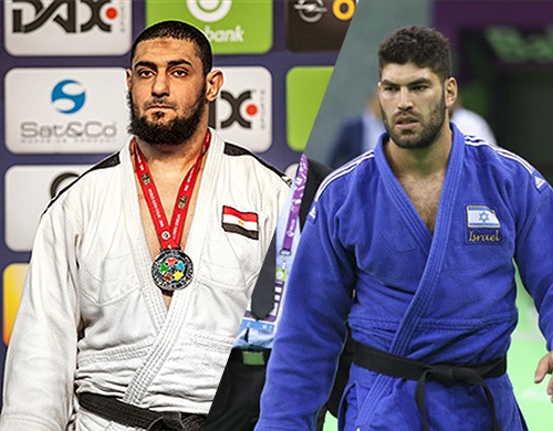 اللاعب المصري إسلام الشهابي واالاعب الإسرائيلي أور ساسون