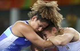 صورة أرشيفية للمصارعة النسائية