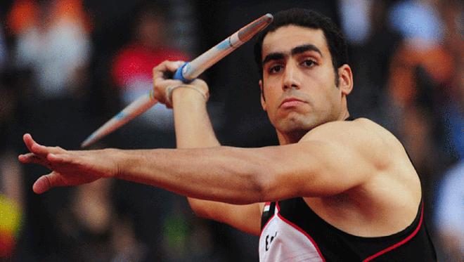 لاعب الرمح إيهاب عبد الرحمن