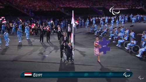 البعثة المصرية أثناء افتتاح أولمبياد البارالمبية