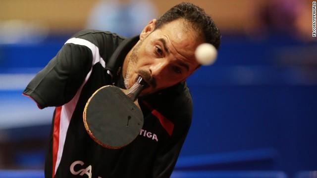 لاعب تنس الطاولة إبراهيم حمدتو