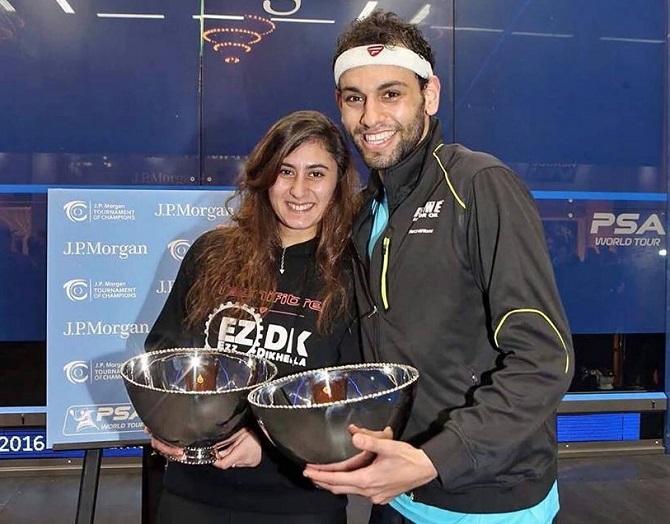 اللاعبين نور الشربيني ومحمد الشوربجي الأوائل عالميًأ