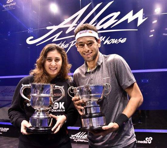 اللاعبان نور الشربيني، ومحمد الشوربجي