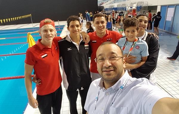 المنتخب المصري المشارك ببطولة جنوب أفريقيا للسباحة