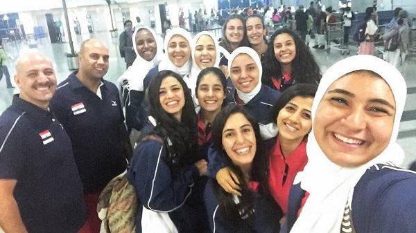 أثناء وصول البعثة المصرية إلى كينيا