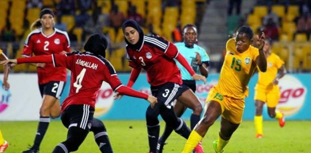 من مباراة مصر وزيمبابوي