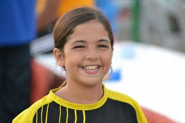 الطفلة ماجي، لاعبة نادي وادي دجلة للكرة الطائرة