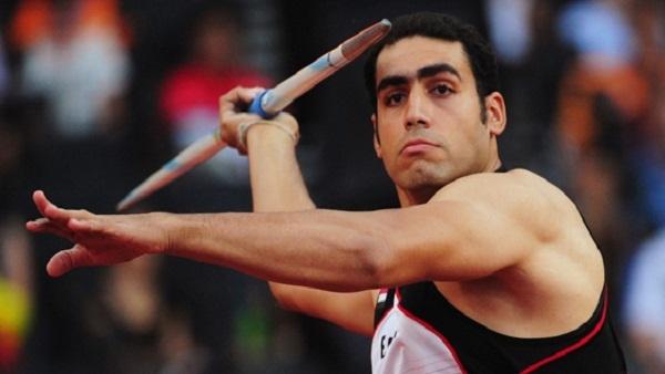 لاعب النادي الأهلي لألعاب القوى إيهاب عبدالرحمن