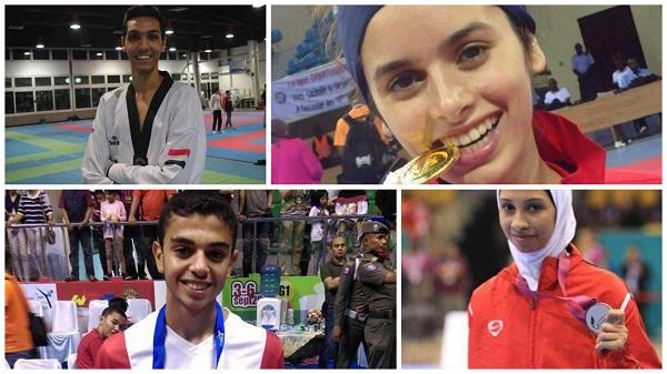 أبطال مصر المشاركين بالبطولة الدولية للتايكوندو