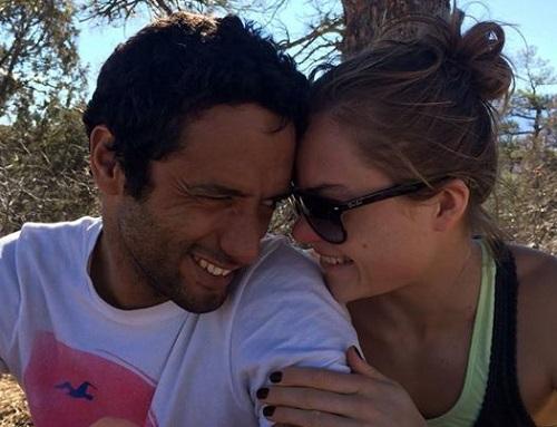 اللاعب عمرو الجزيري مع زوجته إيزابيلا إيزاكسن