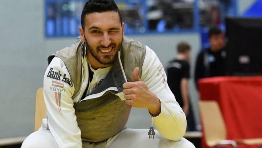 لاعب سلاح الشيش علاء أبو القاسم