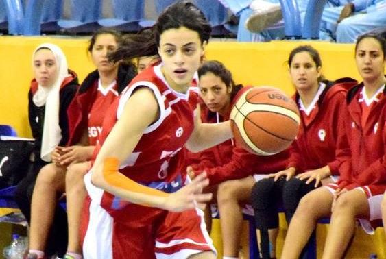 لاعبة كرة السلة ثريا الدغيدي
