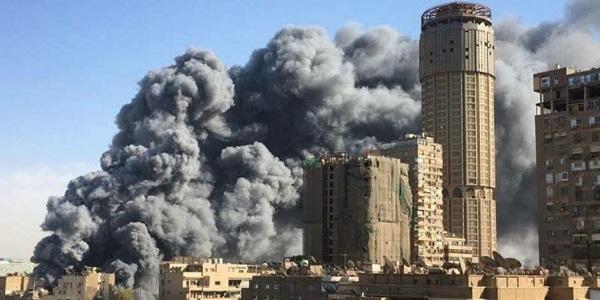حريق صالة الجمباز بنادي الجزيرة