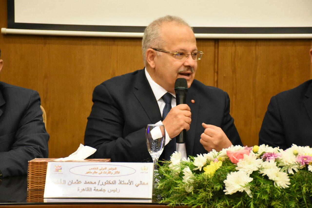 رئيس جامعة القاهرة الدكتور محمد عثمان خُشت