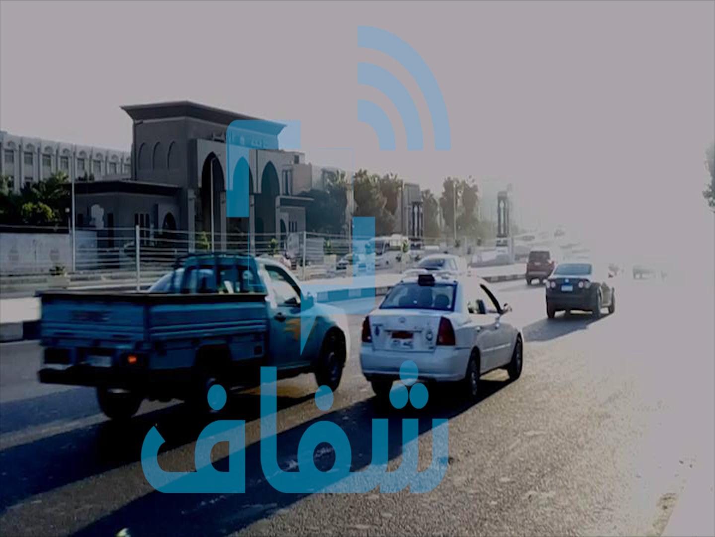 طريق النصر أمام جامعة الأزهر